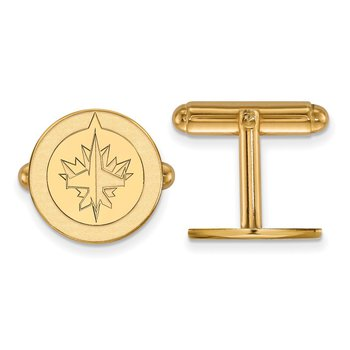 Gold Winnipeg Jets NHL Cuff Links