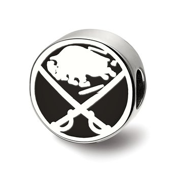 Sterling Silver Buffalo Sabres NHL Bead