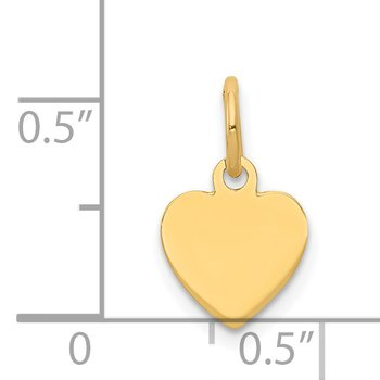 14k Plain .011 Gauge Engravable Heart Disc Charm