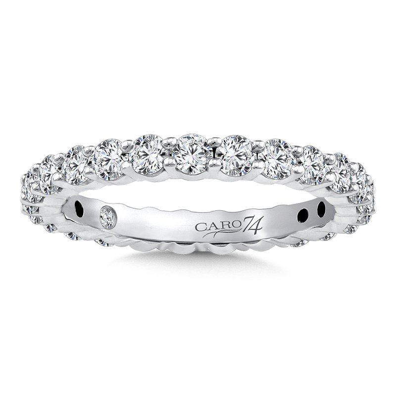 Caro74 Eternity Band (Size 6.5) in 14K White Gold (1.29ct. tw.)