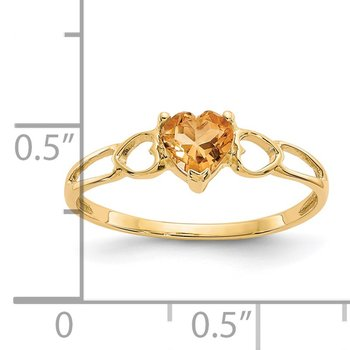 14k Citrine Birthstone Ring