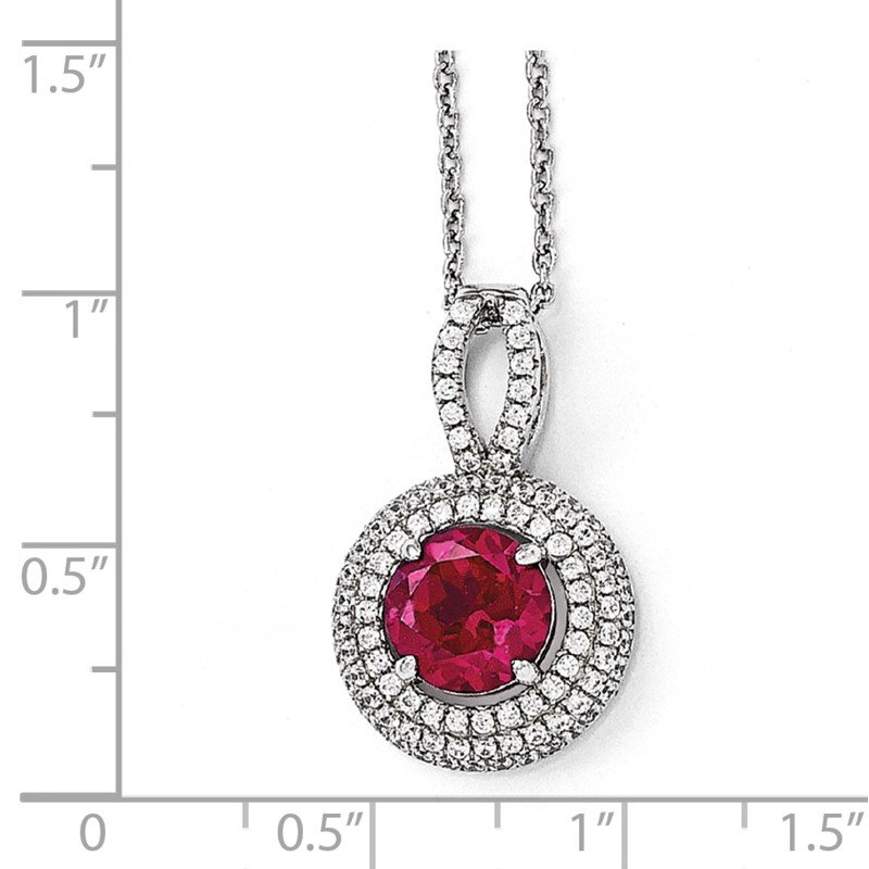 Quality Gold SS Rhodium-Plated CZ Brilliant Embers Circle Necklace