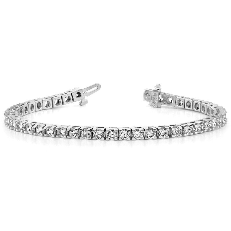 True Origin 14kw True Origin Lab Grown VS/SI, D E F, Diamond Tennis Bracelet