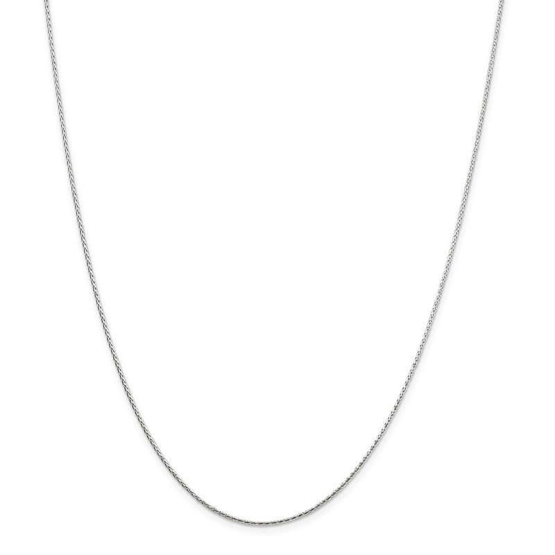 Quality Gold Sterling Silver 1.25mm Diamond-cut Round Spiga Chain