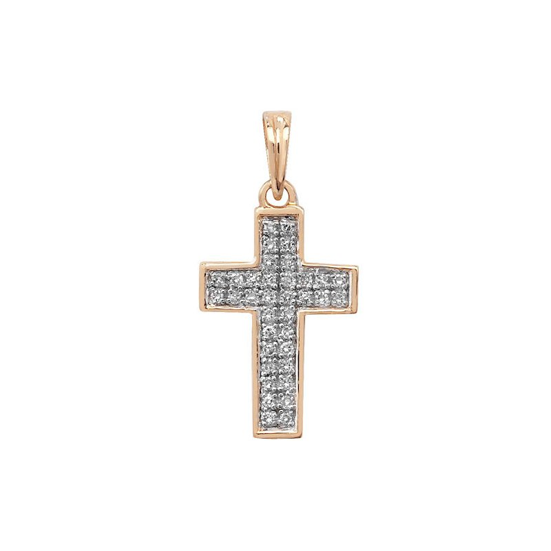 Treasure Diamond Cross Pave Set W/G