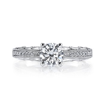 MARS 25866 Diamond Engagement Ring 0.14 Ctw.