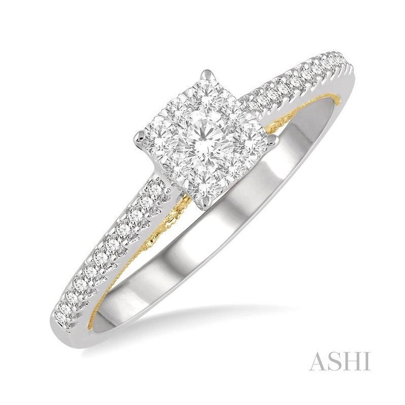 ASHI lovebright bridal diamond ring