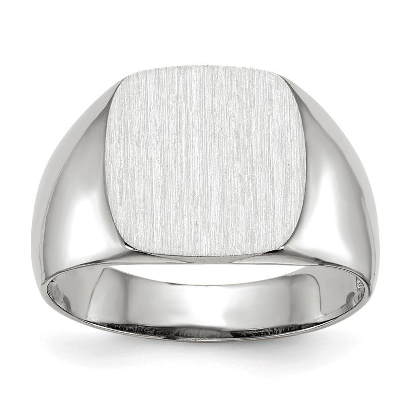 Quality Gold 14k White Gold 12.5x12.5mm Open Back Signet Ring