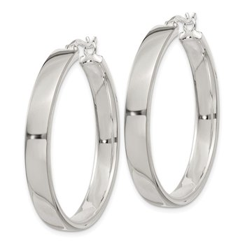 Sterling Silver 5x31mm Hoop Earrings