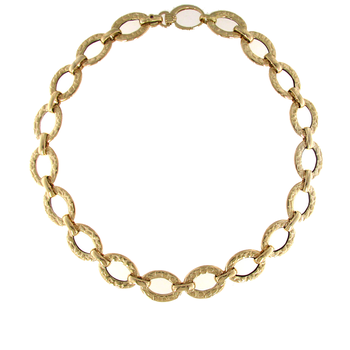 18Kt Yellow Gold Oval Link Necklace