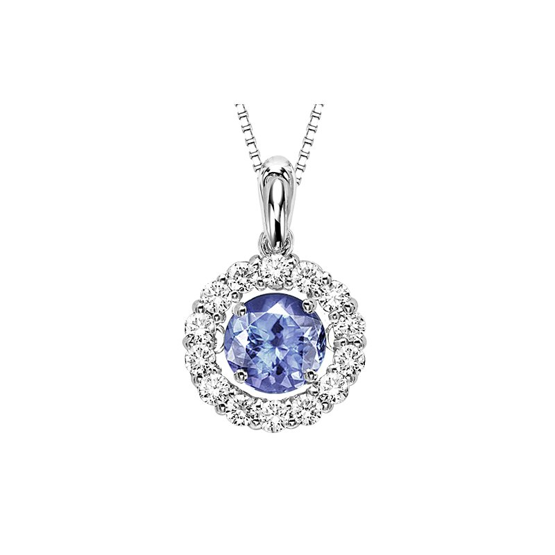 Rhythm of Love 14K Tanzanite & Diamond ROL Pendant 1 1/4 ctw