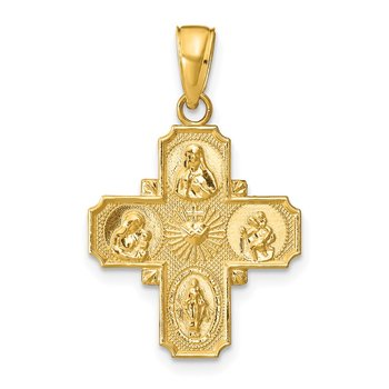 14k 4-Way Medal Pendant
