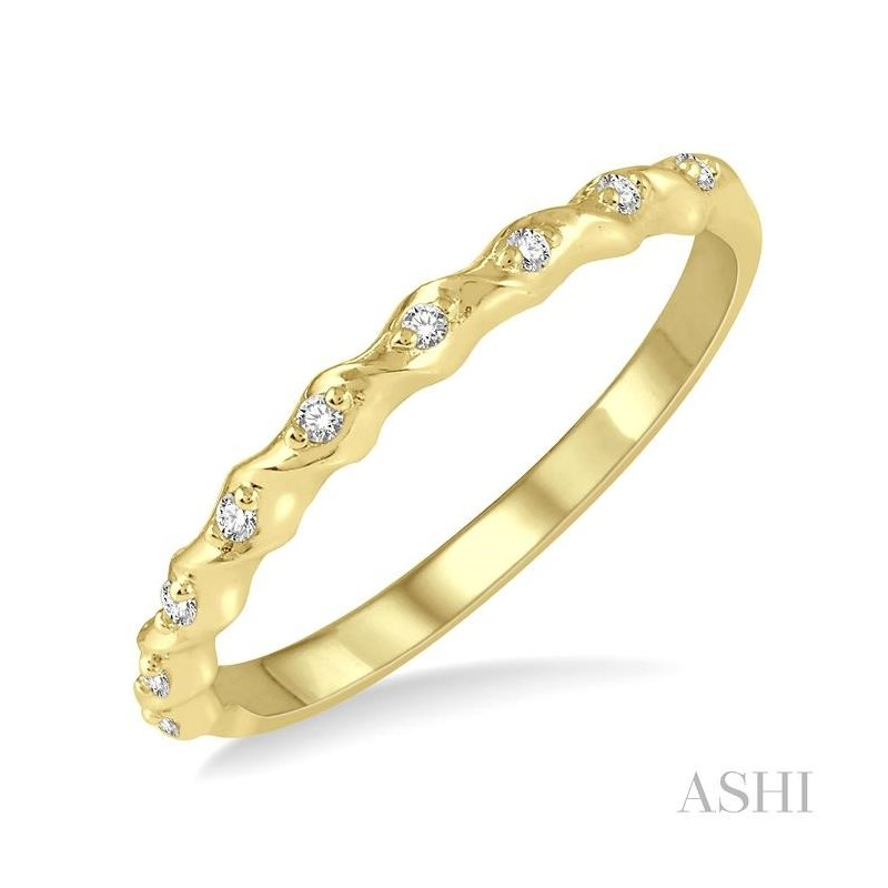 ASHI stackable diamond band