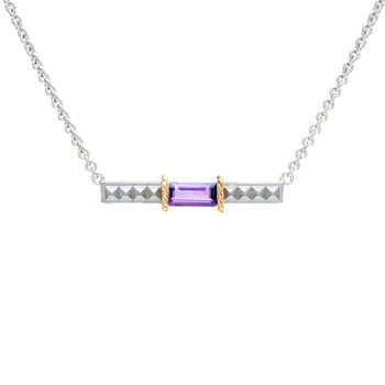 18kt and Sterling Silver Amethyst Necklace