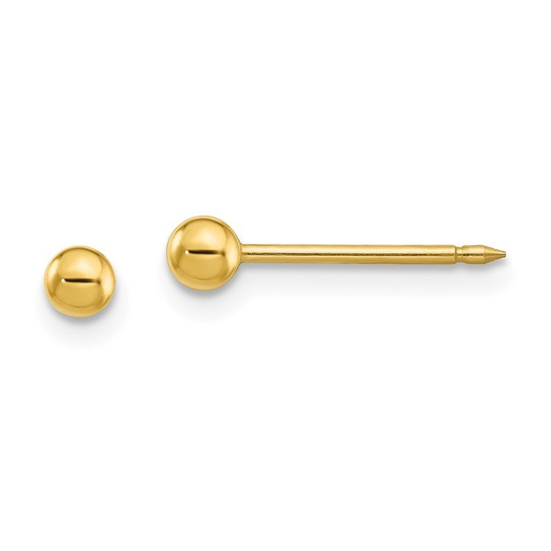 Quality Gold Inverness 24k Plated 3mm Ball Post Earrings