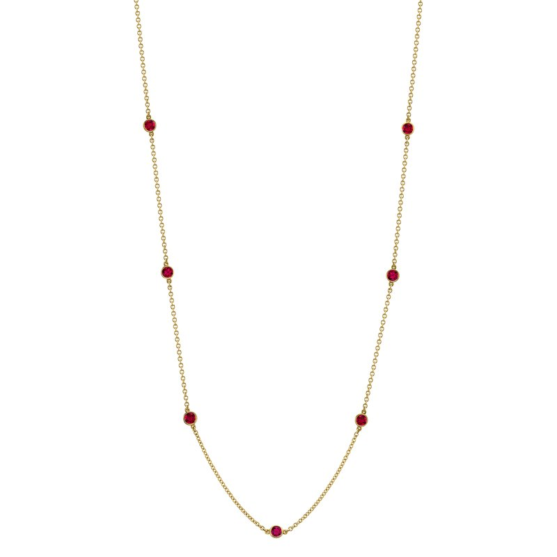 "Omi Prive Ruby ""By the Yard"" Chain"