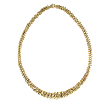 18KT GOLD SMALL GRADUATED LINK NECKLACE