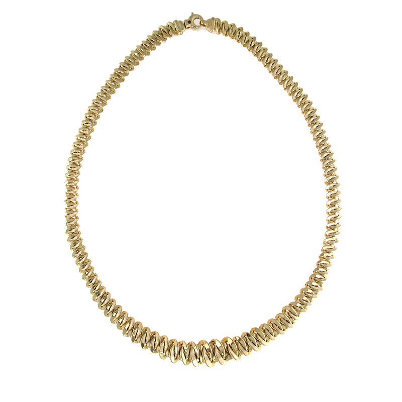 Roberto Coin 18Kt Gold Small Graduated Link Necklace