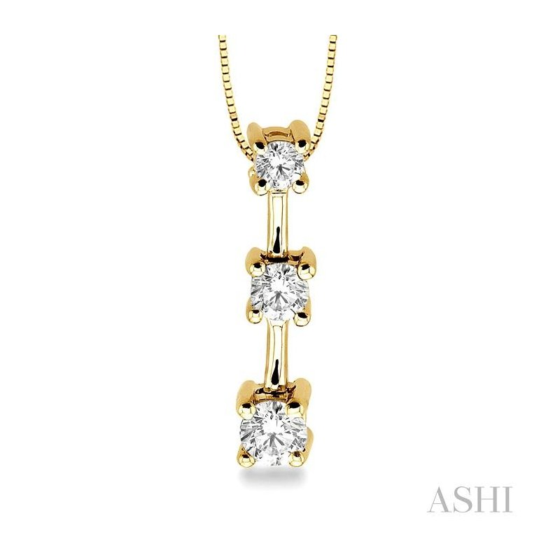 ASHI past present & future diamond pendant