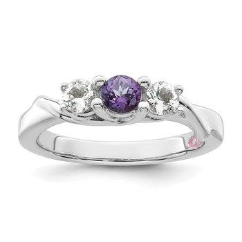 Sterling Silver Survivor Collection Clear & Purple Swarovski Topaz Joanna R