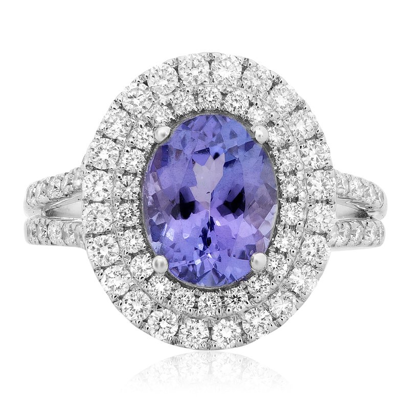 Roman & Jules Double Halo Tanzanite Ring