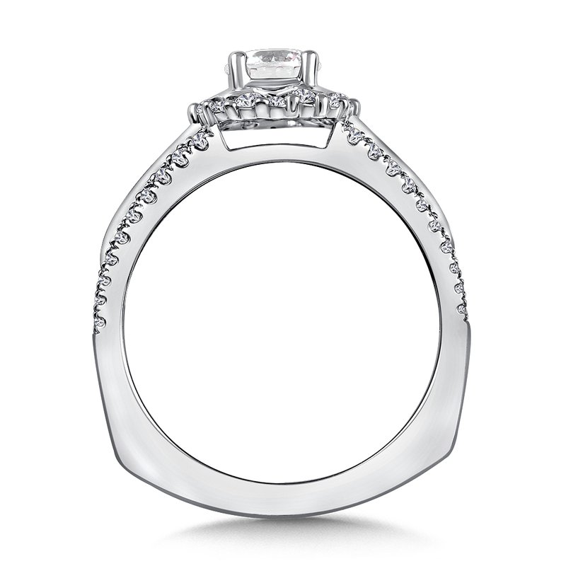 Valina Halo Engagement Ring Mounting in 14K White Gold (.41 ct. tw.)