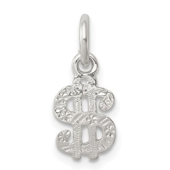 Sterling Silver Dollar Sign Charm