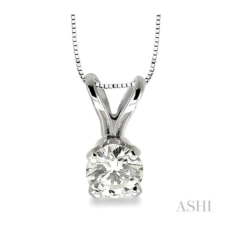 ASHI solitaire diamond pendant