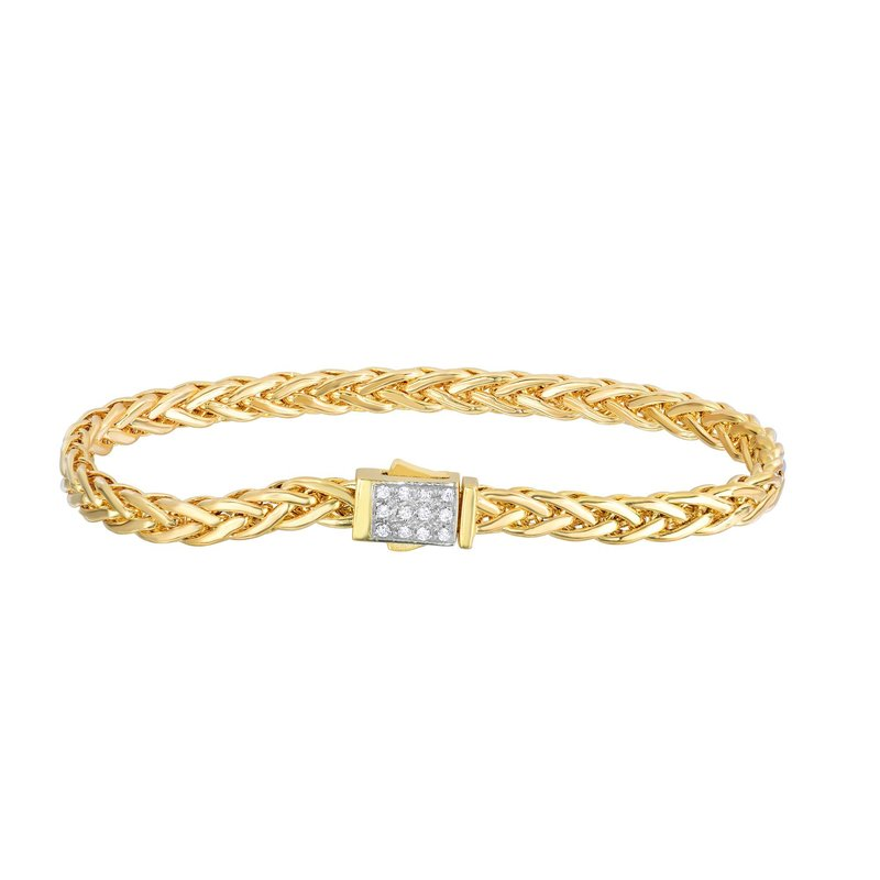 Royal Chain 14K Gold Woven Bracelet