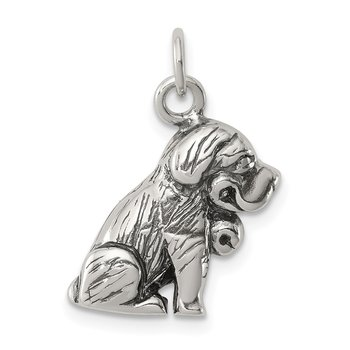 Sterling Silver Antique St. Bernard Charm