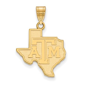 Gold Texas A&M University NCAA Pendant