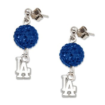 Sterling Silver Los Angeles Dodgers MLB Earrings