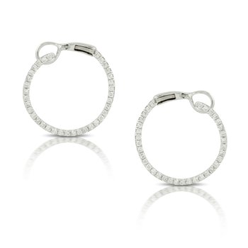 Diamond Circle Earrings 18KW