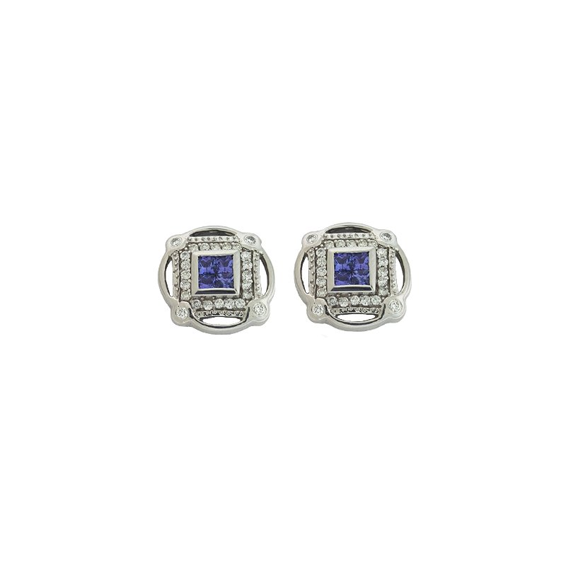 S. Kashi  & Sons Tanzanite./diamond Earring