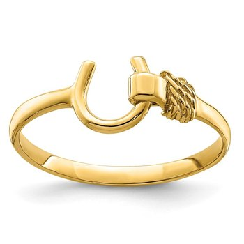 14K Horseshoe Ring