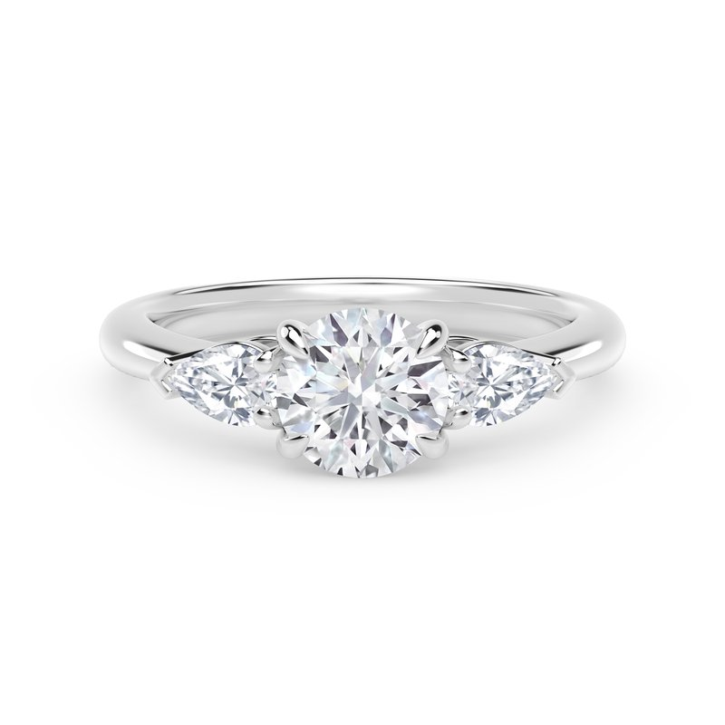 Forevermark Engagement and Commitment Forevermark Accents™ Engagement Ring with Pear Sides