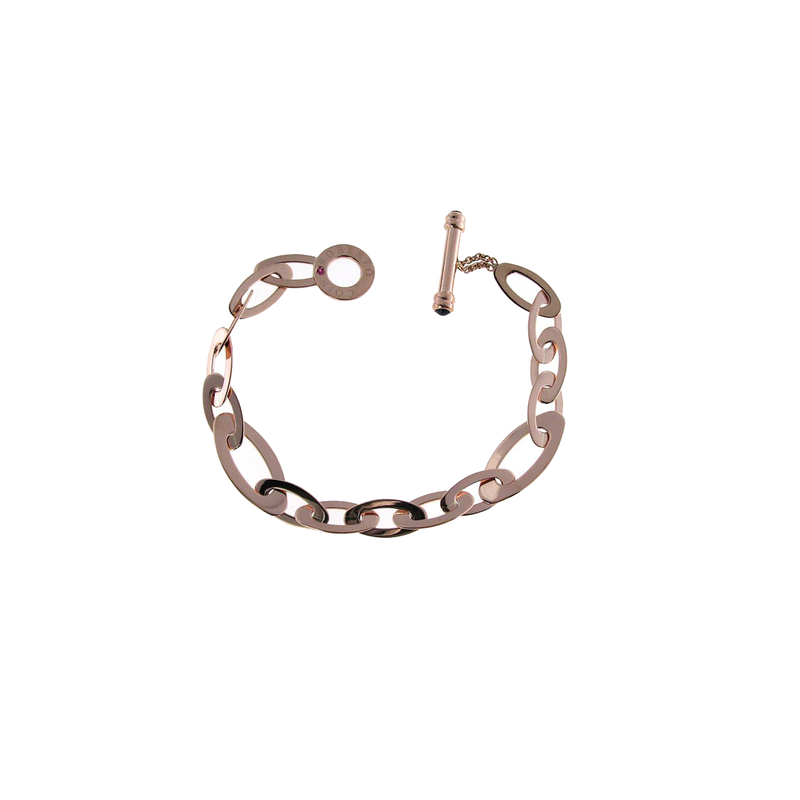 Roberto Coin 18Kt Gold Medium Oval Link Bracelet