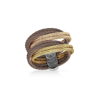 Bronze, Rose, Yellow, & Carnation Cable Entwine Ring
