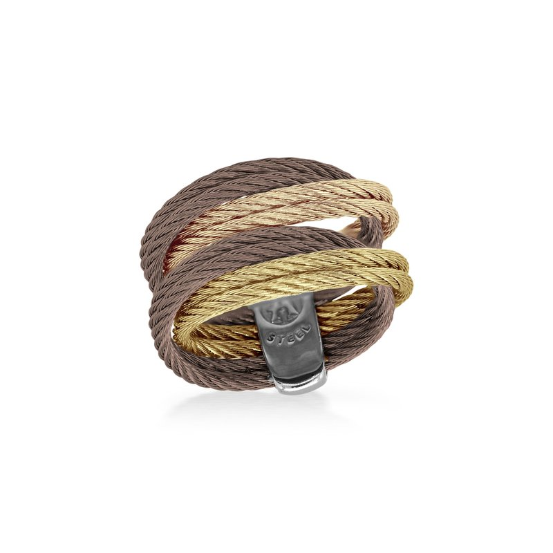 ALOR Bronze, Rose, Yellow, & Carnation Cable Entwine Ring