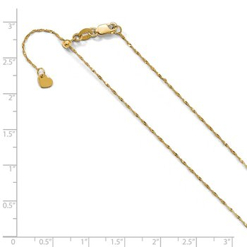 Leslie's 10K Yellow Gold 1 mm Adjustable Singapore Chain