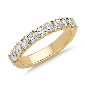 Prong set Round Diamond Wedding Band 14k Yellow Gold (1/7ct. tw.)