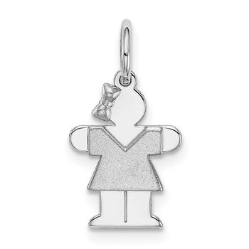 14k White Mini Girl Hugs Charm