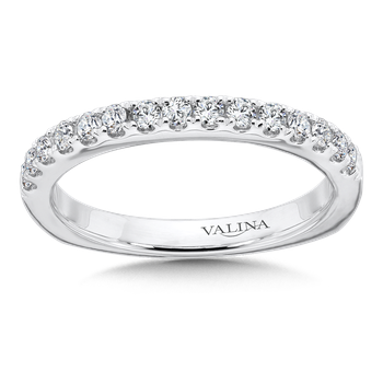 Diamond and 14K White Gold Wedding Ring (.41 ct. tw.)