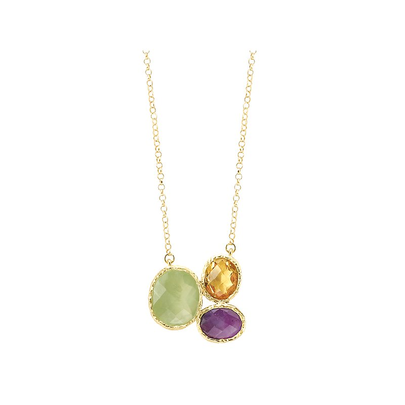 Eleganza Ladies Fashion Gemstone Necklace
