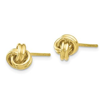10k Love Knot Post Earrings