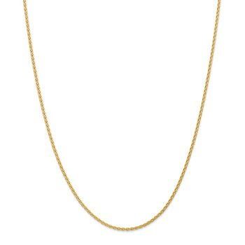 14k 1.75mm Parisian Wheat Chain Anklet