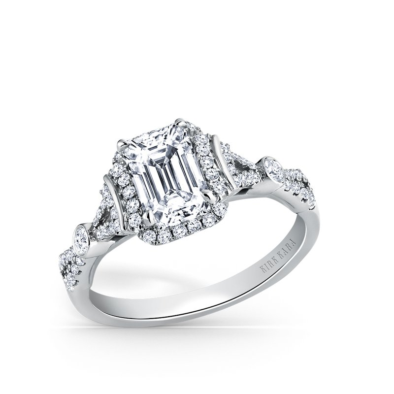 Refined Deco Diamond Engagement Ring