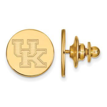 Gold-Plated Sterling Silver University of Kentucky NCAA Lapel Pin