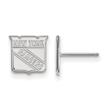 Sterling Silver New York Rangers NHL Earrings