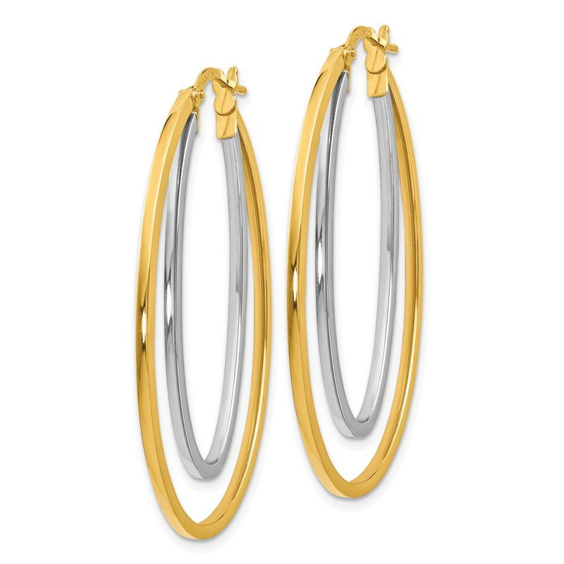 Leslie's Leslie's 14Ky White Gold Flash-plated Polished Hoop Earrings